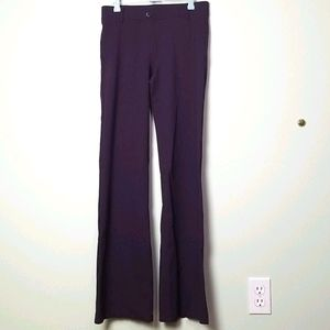 Betabrand plum purple straight leg pants